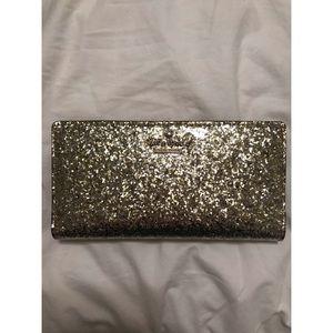 Kate Spade Gold Glitter Wallet